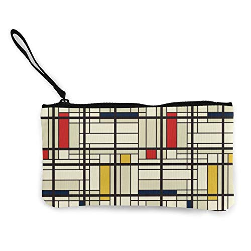 Moneda de lona, patrón de rayas populares (2) bolso con cremallera, bolsa de cosméticos de viaje multifunción, bolsa de maquillaje para teléfono móvil, bolsa de lápices con asa