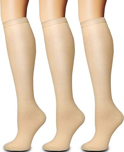 Compression Socks Women and Men Circulation (3 Pairs) - Best for Medical,Nursing,Running,Travel, Recovery & Flight Socks