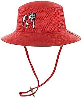 '47 Georgia Bulldogs Brand Red Vintage Panama Pail Mesh Bucket Hat Cap with Strap