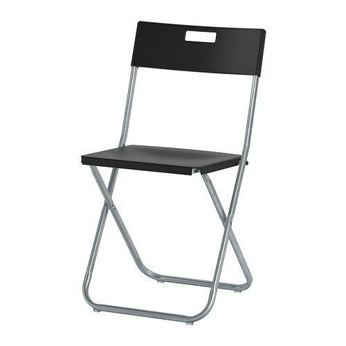 Ikea GUNDE Klappstuhl in schwarz, weiß
