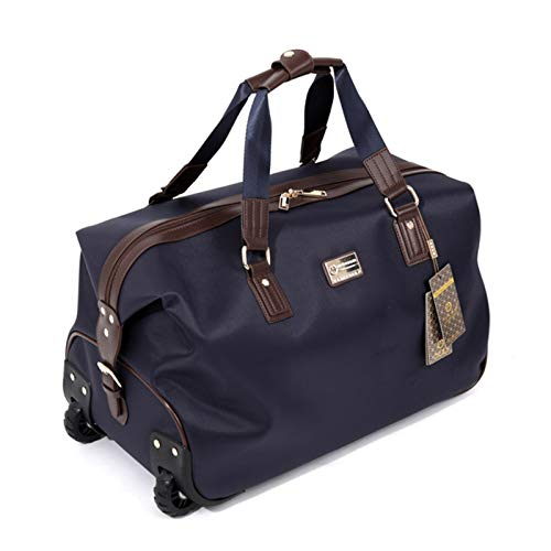 CaoQuanBaiHuoDian Convenient Luggage Bag Ladies Travel Holdall Bags Foldable Travel Bag Wheeled Light Weight Zipped Front Pocket Widely Used (Color : Blue, Size : 47X24X27CM)