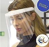 Fredo Ergonomisches Gesichtsschutz - Visier aus Kunststoff - Face Shield - Aufklappbar Gesichts Schutzschild - 1 x Halterungen mit je 3 Wechselfolien
