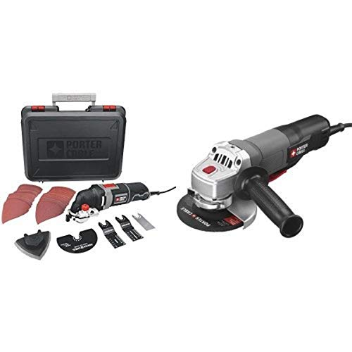 PORTER-CABLE PCE605K 3-Amp Corded Oscillating Multi-Tool Kit with PORTER-CABLE Angle Grinder/Cut Off Tool
