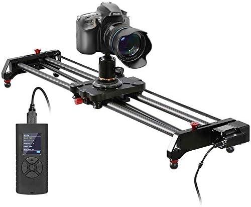 GVM Deslizador motorizado 31 '' 80cm con lapso de Tiempo, Toma de Seguimiento y Toma panorámica de 120 Grados para la mayoría de los Videos de cámaras DV DSLR