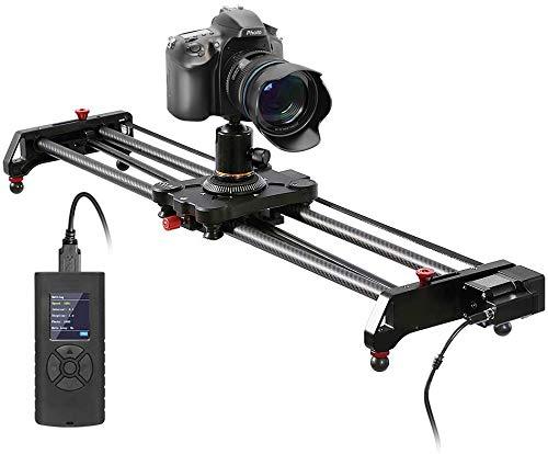 GVM Slider Motorizzato di Camera con time-lapse, riprese con inseguimento e riprese panoramiche a 120 gradi per la maggior parte dei video DV delle fotocamere DSLR, 31   80 cm