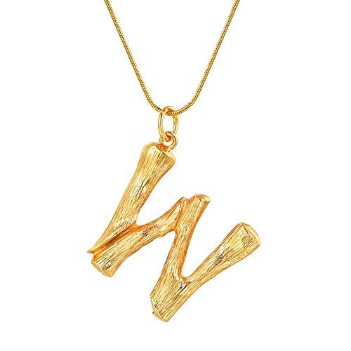 NSXLSCL Vrouwen Hanger Ketting, Grote Letters W Goud Hanger Kettingen Voor Vrouwen Met Snake Chain Engels Letter Sieraden Beste