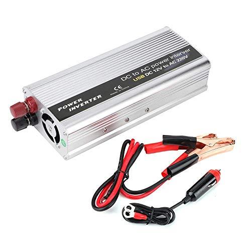 J-Love Convertidor de Corriente portátil de 6000W, DC 12V a AC 220V-240V Inversor de Corriente Convertidor de Cargador USB único Silve
