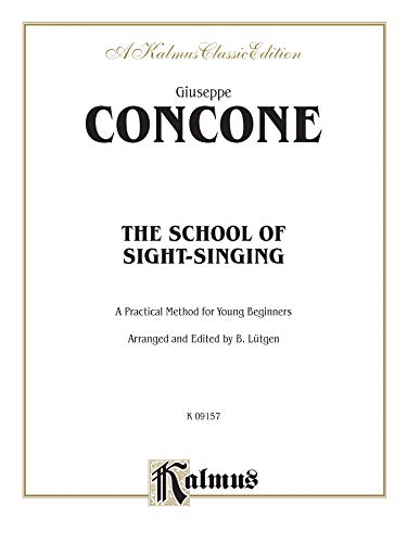 The School of Sight-Singing: Practical Method for Young Beginners (Lutgen) (Kalmus Edition)