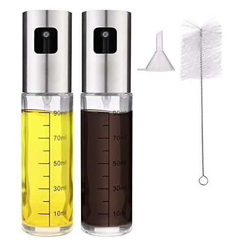 Olive Oil Sprayer Bottle Set-2 Packs 100 ml Oil Mister for Air Fryer Spray Bottle for Cooking BBQ Salad