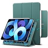 ESR Funda Magnética para iPad Air 4 (2020) 10,9 Pulgadas Cómoda Instalación Magnética, Compatible Emparejamiento y Carga Inalámbrica Apple Pencil, Cubierta Inteligente, Soporte Tríptico, Verde