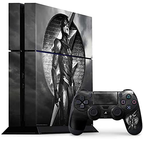 Skinit Decal Gaming Skin Compatible with PS4 Console and Controller Bundle - Officially Licensed Warner Bros Flash Justice League Design