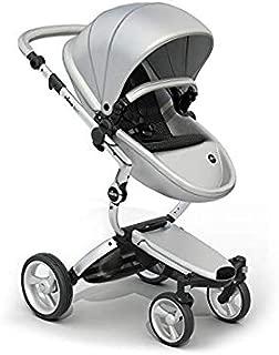 Mima Xari Stroller (Aluminum Chassis, Argento seat, Black Starter Pack)