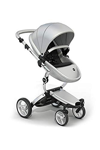 Mima Xari Stroller (Aluminum Chassis, Argento seat, Black Starter Pack)