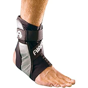 DJO 02TMR AIRCAST A60 Ankle Support, Black, Right, Men Size 7.5-11.5, Women Size 9-13, Medium
