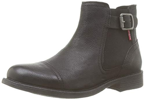 Levi's Maine W Chelsea, Botas Slouch para Mujer, Negro (Boots 59), 36...