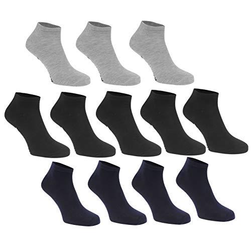 Donnay Herren Trainer Liner Sneaker Socken Sport 12er Pack Dunkel Asst Herren UK 7-11