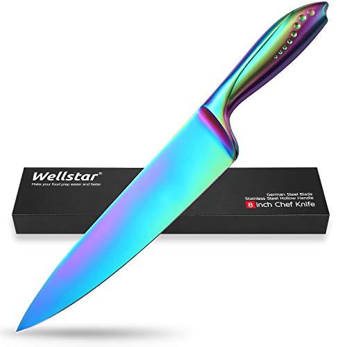 Cuchillo de chef de 20,32 cm, hoja de acero alemán afilada
