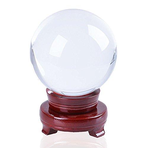 JJPRIME – clara cristal bola de cristal 100 mm (pulgada), fotografí