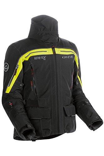 DANE NIMBUS GORE-TEX® Pro Motorradjacke Farbe schwarz/signalgelb, Größe 52