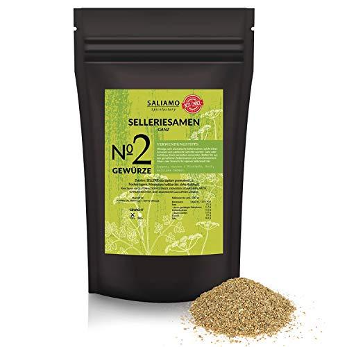 Saliamo Selleriesamen - ganze Körner - Sellerie Saatgut - Sellerie Pulver - Selleriesalz - Basisgewürz - Alleskönner - in 100 g Packung erhältlich