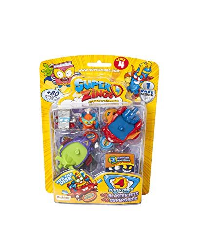Superzings- Blíster 5 Serie 4 Vehículos y Figuras Coleccionables, Color surtido, única (Magic Box...