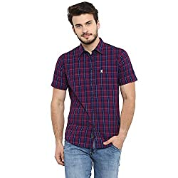 Red Tape Mens Checkered Regular Fit Casual Shirt