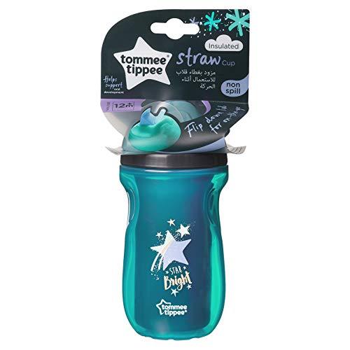 Tommee Tippee, bicchiere con cannuccia senza BPA, motivo stella luminosa, per bambini da 12mesi in su