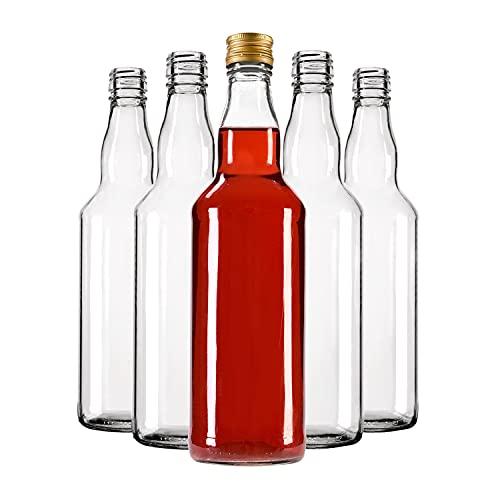 Botellas vacías de Monopoly - Botellas de vidrio vacías - Aspecto elegante y moderno de botellas de vidrio - Vidrio de alta calidad - Botellas de cristal para rellenar - Juego de 50 botellas