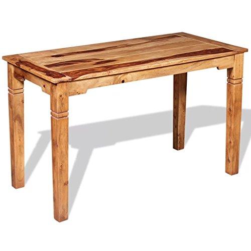 Tidyard Esszimmertisch Esstisch Schreibtisch Tisch aus Massives Palisander-Holz mit honigfarbenem, mattem Finish,Beistelltisch Couchtisch Küchentisch Ablagetisch 120 x 60 x 76 cm