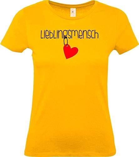 Shirtstown Femme Femmes Tee-Shirt, Personne Préférée, Famille Partner Amis Mariage Amour, Dicton Femme Frau Fille Dicton Logo Thé Niki Drôle Fun - Jaune, L