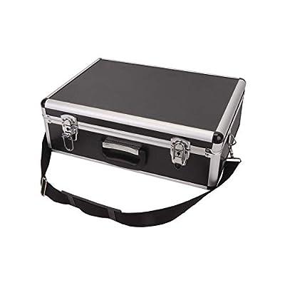 MorNon Large Aluminium Flight Hard Case Tool Box Carry Foam Storage DJ Camera Box Metal Case Aaluminium Case