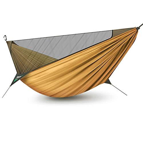 TIANYOU Camping Hamcock Travel Red Transpirable Secado Rápido Paracaídas Nylon Tela con Carabine
