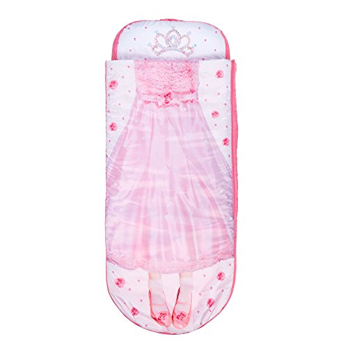 Worlds Apart Junior-ReadyBed – kinderslaapzak en luchtbed in één, polyester, roze-wit, 150 x 62 x 20 cm