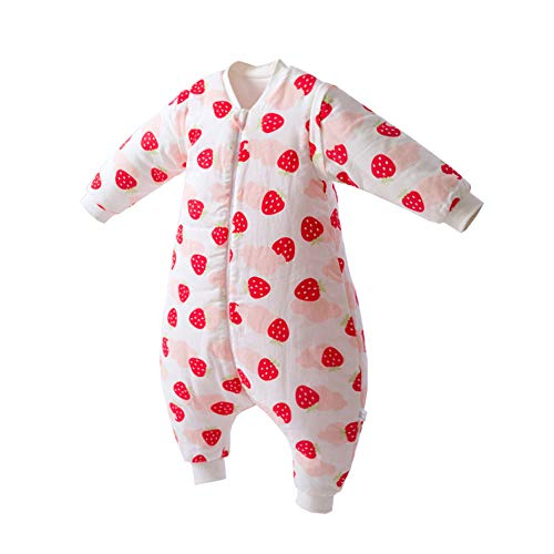 Fairy Baby Sac De Couchage Hiver pour Bébé, Sac De Couchage Chaud Onesies Combinaison Size 90 (Strawberry)