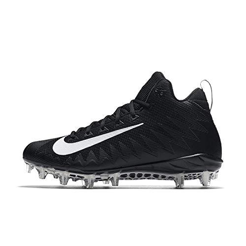 Nike Men's Alpha Menace Pro Mid Football Cleat Black/Metallic Silver Size 9 M US