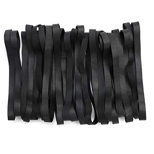 Gummibänder, 35 Stück, große, robuste Gummibänder für Büro, Zuhause, Schule, stark, langlebig, breit für industrielle Anwendungen (schwarz)