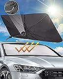 Parasole Auto Parabrezza,Ombrello per Parasole Finestrino Anteriore,Protezione dai Raggi UV per Auto, Camion, Autocarri ,140*79CM