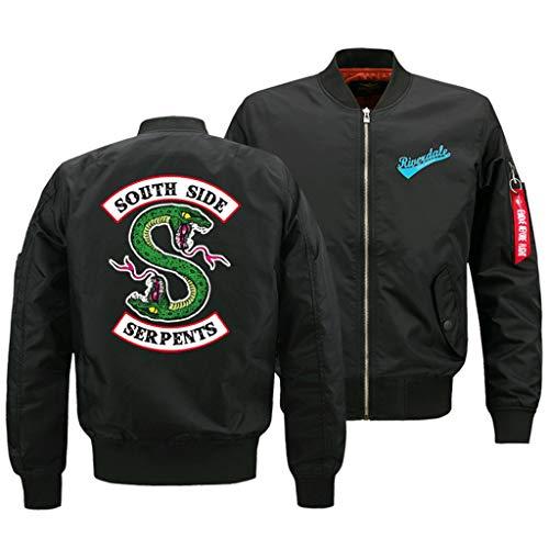 XXW Riverdale South Side Air Force Fliegerjacke Fliegerjacke Frauen Bomberjacke Motorradjacken Schlanker Mantel Zip Outwear Streetwear Koreanische Kleidung