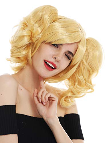 WIG ME UP - SH70102-ZA88C Perücke Karneval Cosplay Damen Girly Gothic Lolita abnehmbare Zöpfe schulterlang blond