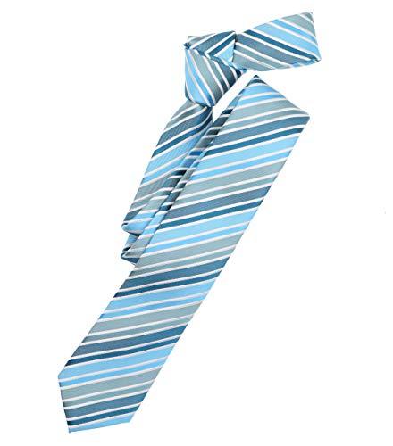 Venti Herren Krawatte gestreift Türkis Einheitsgröße