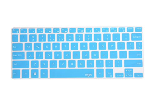 Leze - Ultra Thin Silicone Keyboard Skin Cover for Dell XPS 13 9343 9350 9360,Inspiron 13-7347 13-7348 13-7359 13-7352 7353 15-7547 15-7548 i7347 i7348 i7352 i7353 i7359 Series Laptop Semi - Blue