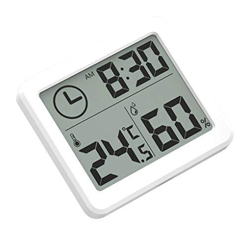 Guangcailun Kamer temperatuur-vochtigheidsmeter Gauge klok thermometer digitale Digital tafelklok Household LCD-display thermometer hygrometer
