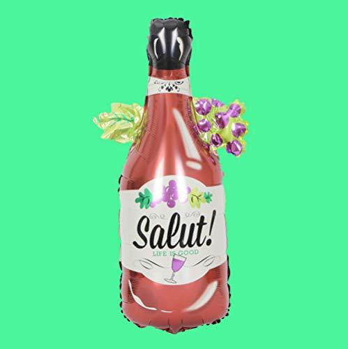 globos Decoración de boda Globos de papel de aluminio Oro rosa Novia Amor Globo de helio Champán Botella de whisky Copa Globos Fiesta de cumpleaños Globos-salut_bottle