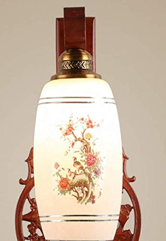 Oak Wandleuchte geschnitzte Wandlampe, B weies Licht