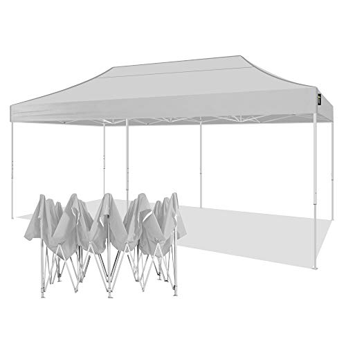 AMERICAN PHOENIX Canopy Tent 10x20 Pop Up Instant Shelter Shade Heavy Duty Commercial Outdoor Party Tent (10x20FT (White Frame), White-1)