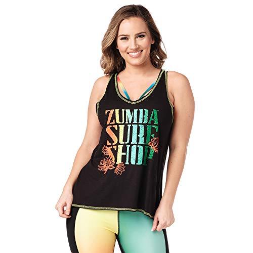 Zumba Loses Schwarzes Sportbekleidung Damen mit Grafikdruck Trainingsoberteile, Black 0, XL