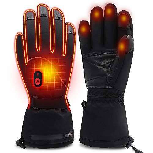Mermaid Beheizte Handschuhe Herrenhandschuhe für chronisch kalte Hand, Handwärmer-Handschuhe Erhitzte Motorradhandschuhe für Geschenke, Jagd, Arbeiten im Freien (L)