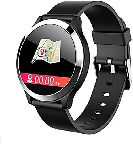 TCHENG Smart Watch ECG + PPG Deporte Impermeable Smartwatch para Hombres Mujeres USB 2.0 Pulsera de Seguimiento de Fitness (Color : Black)