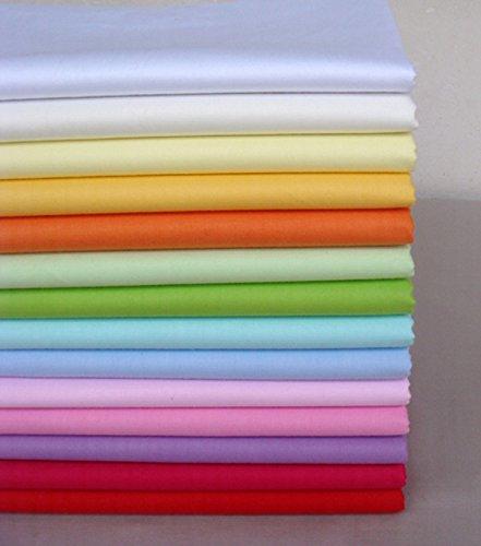 14 unids 40 cm * 50 cm Tela de Algodón Sólido Liso Para Coser Acolchado Patchwork Textil Tilda Muñeca Paño Del Cuerpo