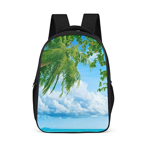 BTJC88 Sea Sky Dusk Paesaggio Zaini Vintage Water Resistant Book Borse - Design Daypack Unisex Vestito per studenti elementari, adatto per computer 15,4 pollici Taglia unica Grigio